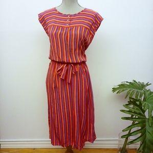 Dresses & Skirts - Gorgeous vintage 80's silk dress size Large